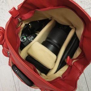 Epiphanie Bags - Red Epiphanie Lola Purse/Camera Bag. Vegan Leather